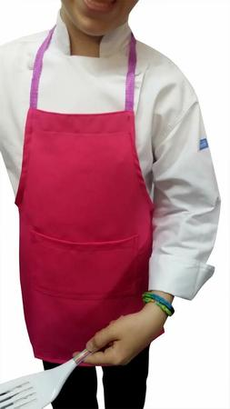 10 sets of apron and hat medium size  in HOT PINK  by CHEFSK