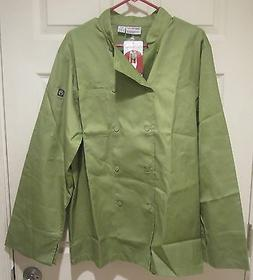 Chef Works 2833-LIM Basic Chef Coat  Lime Green Size: Medium