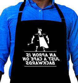BBQ Grill Apron - Apron is Just a Cape on Backwards - Funny