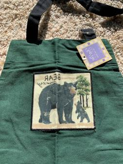 Bear Country Apron Wilderness Trail Bear Pattern Kay Dee Gre