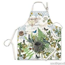 Birds Buildng a Nest Into the Woods Chef Apron Kitchen Cotto