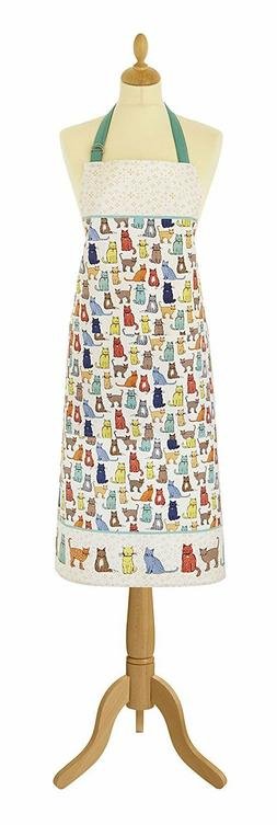 Cat Walk 100% Cotton Apron by Ulster Weavers/NIP/Cooking/Gri