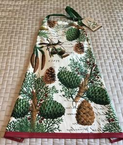 Michel Design Works Christmas Holiday Apron Spruce With Pine
