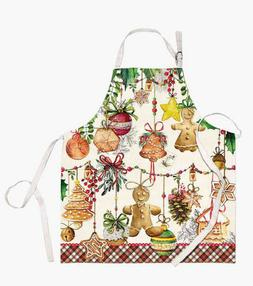 Michel Design Works Cotton Chef's Apron Christmas Cookies Ho