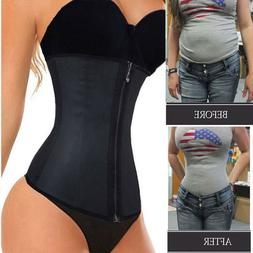 Fajas Colombianas Zip Latex Rubber Waist Trainer Weight Loss
