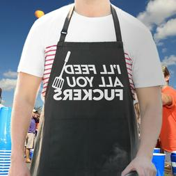 Funny Apron For Men, Ill Feed All You, Guys Gift BBQ Cooking