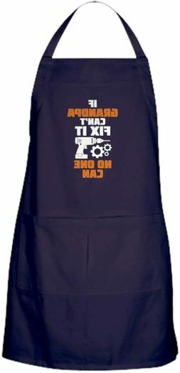 CafePress If Grandpa Can't Fix It No One Can Grilling Apron