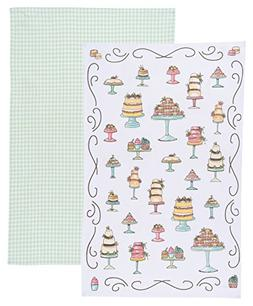 Now Designs Kitchen Dishtowels, Set of Two, Just Desserts an