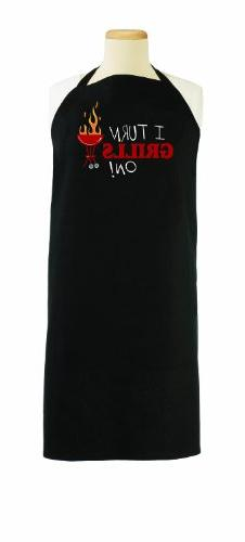 "Ritz 1892 Barbeque Grill Apron, ""I Turn Grills On"""