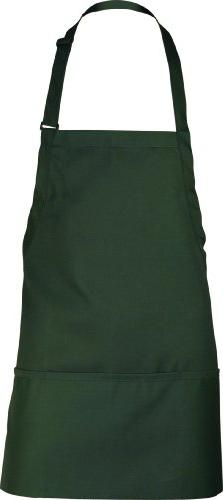 Chef Works F10 3-Pocket Bib Apron, 24-Inch Length by 28-Inch