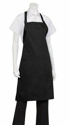 Chef Works Mens Butcher Apron, Black, 34-Inch Length by 24-I