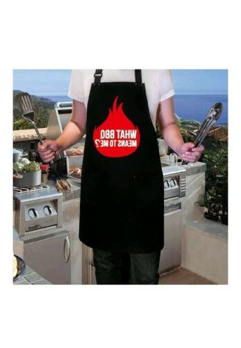 BBQ Funny Aprons For what bbq means me? Kitchen Gift