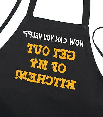 Funny Sayings Apron Get Out Of My Kitchen Aprons with Attitu