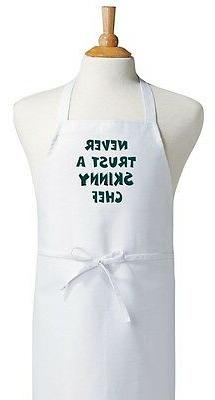 Never Trust A Skinny Chef Aprons With Attitude, Funny Cookin