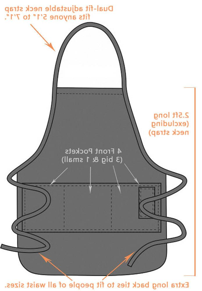 Caution: Grill BBQ Funny Apron Gift for Dad by ApronMen