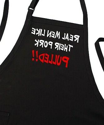 Real Men Like Their Pork Pulled Funny BBQ Apron | Aprons For