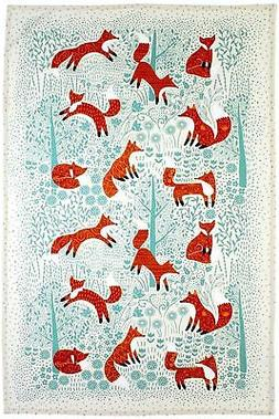 New Ulster Weavers Foraging Fox cotton tea towel