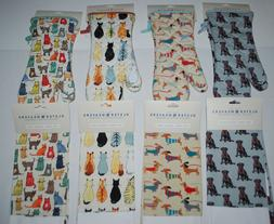NEW NWT ULSTER WEAVERS DACHSHUND DOGS CATS 2 Oven Mitts GAUN