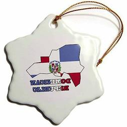 3dRose orn_58772_1 The Flag of The Dominican Republic in The