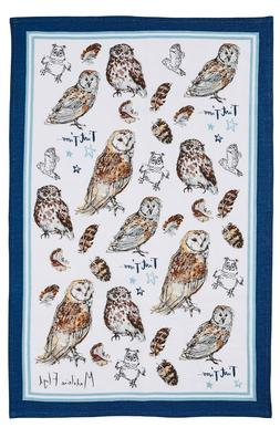 "Ulster Weavers, ""Owls by Madeleine Floyd"", Pure linen printe"