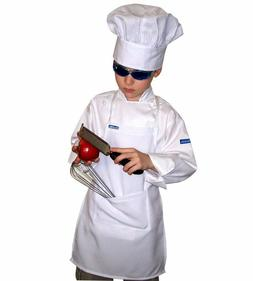 Set Children 3-8 SMALL CHEF APRON + HAT REAL FABRIC COLOR HI