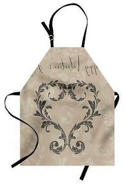 Taupe Apron Unisex Kitchen Bib with Adjustable Neck Cooking