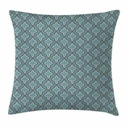 Ambesonne Turquoise Throw Pillow Cushion Cover, Oriental Mor